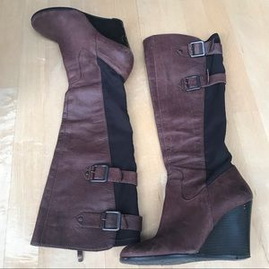 Vince Camuto Brown Wedge Boots